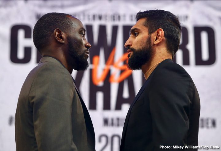 Amir Khan Terence Crawford Bob Arum Crawford vs. Khan ESPN PPV top rank
