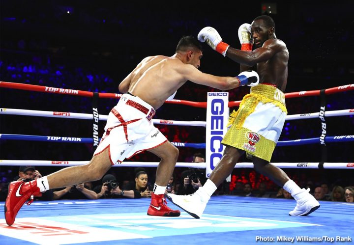 Amir Khan Terence Crawford Crawford vs. Khan ESPN Top Rank Boxing