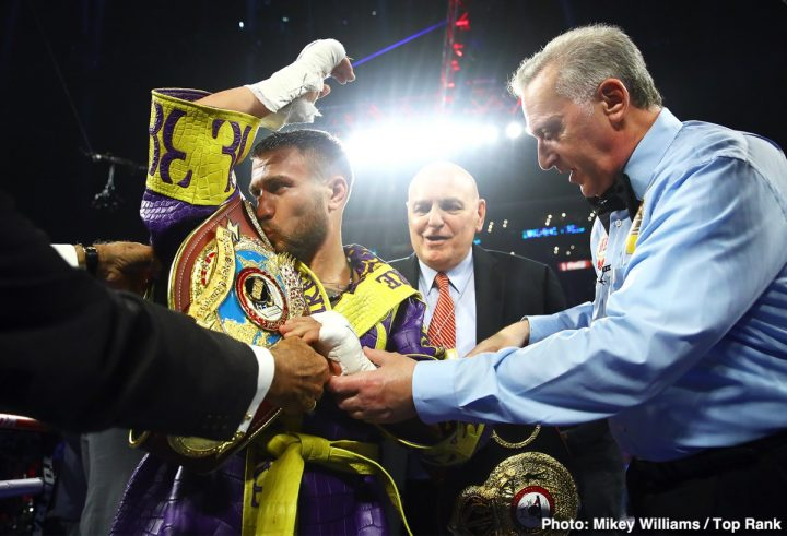 Vasyl Lomachenko Lomachenko vs. Campbell Luke Campbell top rank Top Rank Boxing