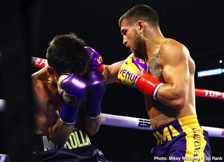 Vasyl Lomachenko Anthony Crolla ESPN Lomachenko vs. Crolla Teofimo Lopez Top Rank Boxing