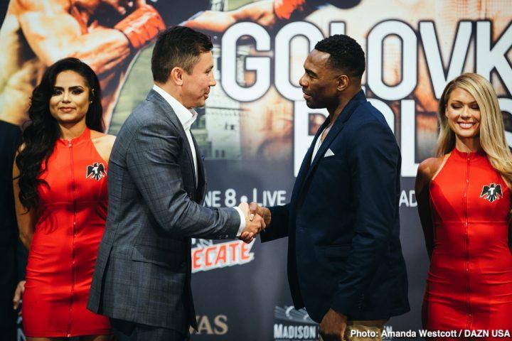Gennady Golovkin Golovkin vs. Rolls Steve Rolls