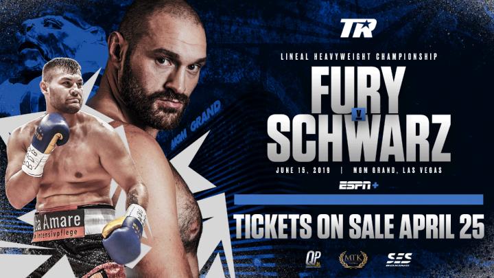 - Latest Tyson Fury Fury vs Schwarz Tom Schwarz