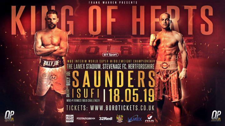 - Latest Billy Joe Saunders Saunders vs. Isufi Shefat Isufi