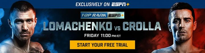 Freddie Roach - Top Rank on ESPN to Bring Vasiliy Lomachenko vs. Anthony Crolla Lightweight World Title Bout April 12 Exclusively on ESPN+