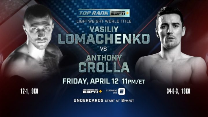 Vasyl Lomachenko Anthony Crolla Lomachenko vs. Crolla