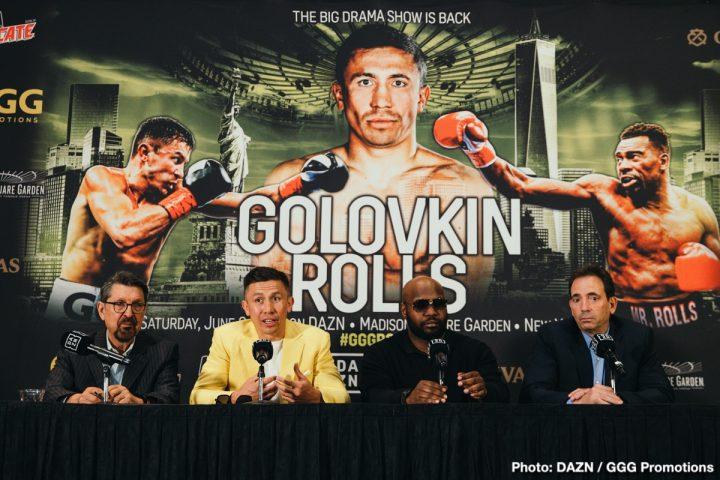 Gennady Golovkin DAZN Golovkin vs. Rolls Johnathon Banks Steve Rolls