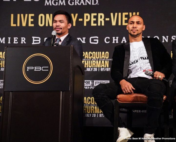 Keith Thurman Manny Pacquiao Pacquiao vs. Thurman