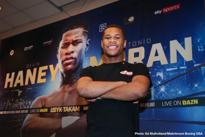 - Latest Antonio Moran DAZN Devin Haney Haney vs. Moran Matchroom Boxing