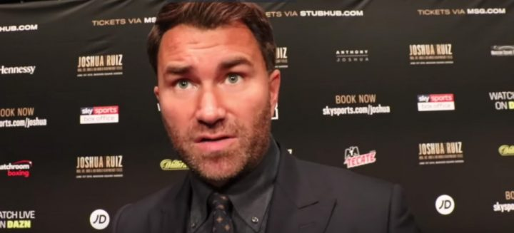 Anthony Joshua Deontay Wilder Tyson Fury Dillian Whyte Eddie Hearn