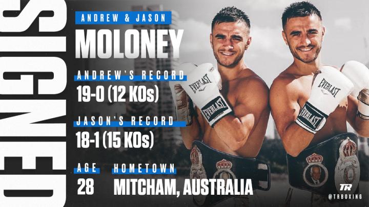 - Latest Andrew Moloney Jason Moloney top rank