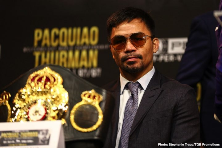 Amir Khan Keith Thurman Manny Pacquiao Khan vs. Goyat Neeraj Goyat Pacquiao vs. Thurman