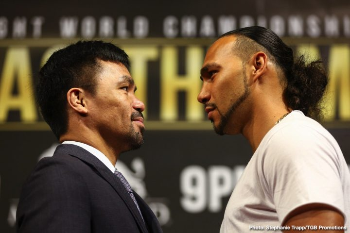 Keith Thurman Manny Pacquiao Fox Sports pay-per-view Pacquiao vs. Thurman