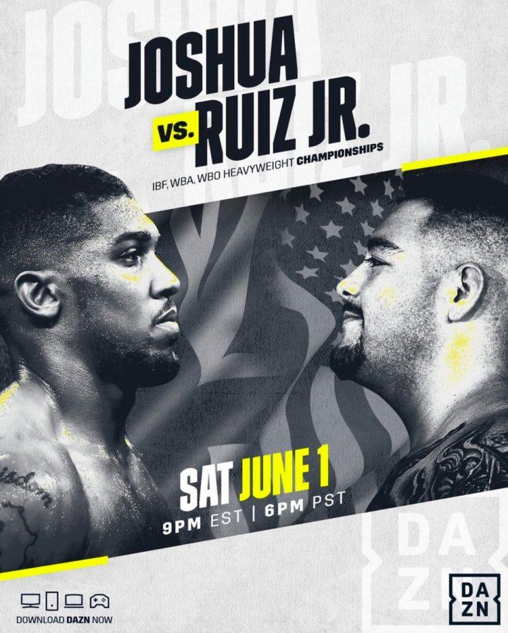 Anthony Joshua Andy Ruiz Jr Eddie Hearn Joshua vs Ruiz Matchroom Boxing