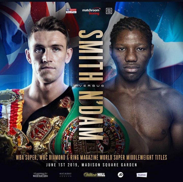 Callum Smith Vs. Hassan N'Dam Official For June 1 At MSG