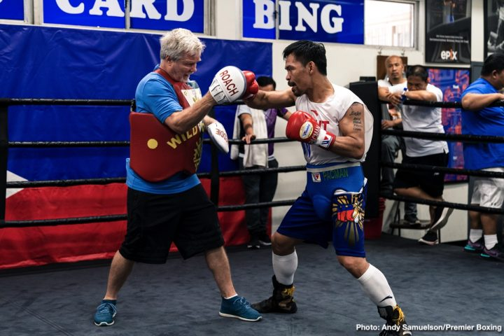 Freddie Roach Keith Thurman Manny Pacquiao Pacquiao vs. Thurman