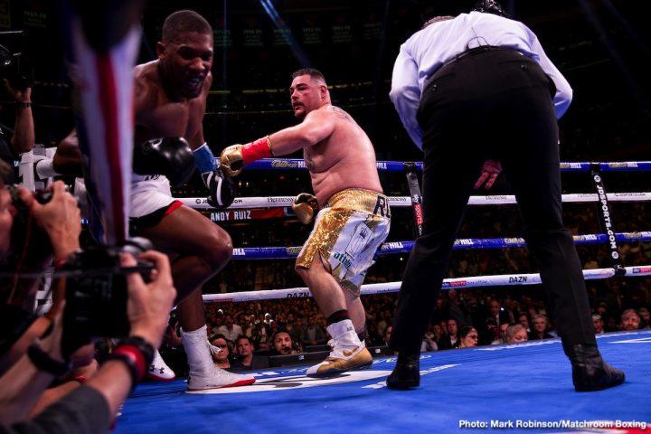 Anthony Joshua Deontay Wilder Joshua vs. Ruiz Jr