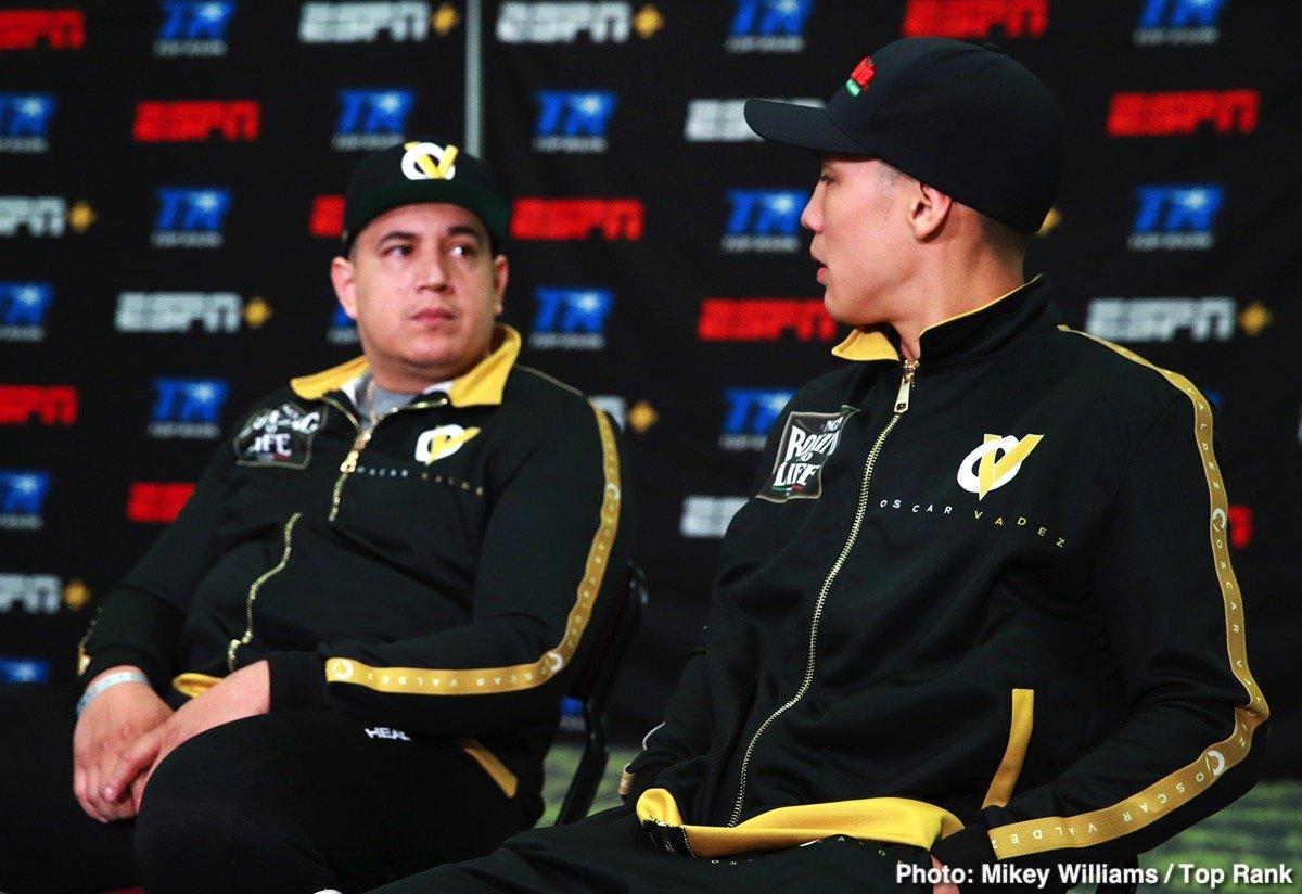 Canelo Alvarez Andres Gutierrez Óscar Valdez ESPN Miguel Berchelt Top Rank Boxing Valdez vs. Gutierrez