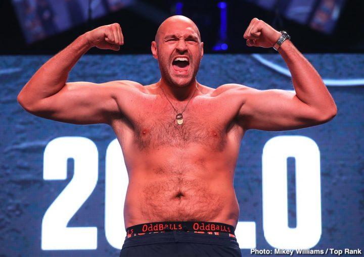 Tyson Fury Fury vs Schwarz Tom Schwarz