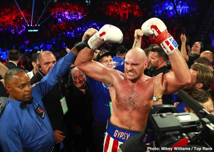 Tyson Fury Bob Arum ESPN Fury vs. Wallin Otto Wallin top rank