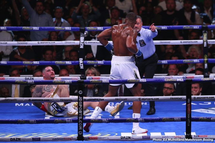 Anthony Joshua Andy Ruiz Joshua vs Ruiz Peter Fury