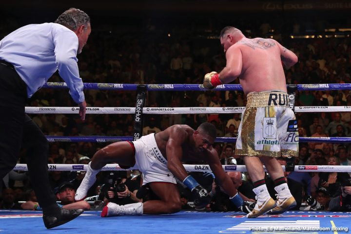 Anthony Joshua Andy Ruiz Jr Bob Arum Joshua vs. Ruiz Jr