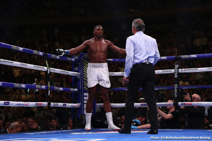 Anthony Joshua Joshua vs Ruiz