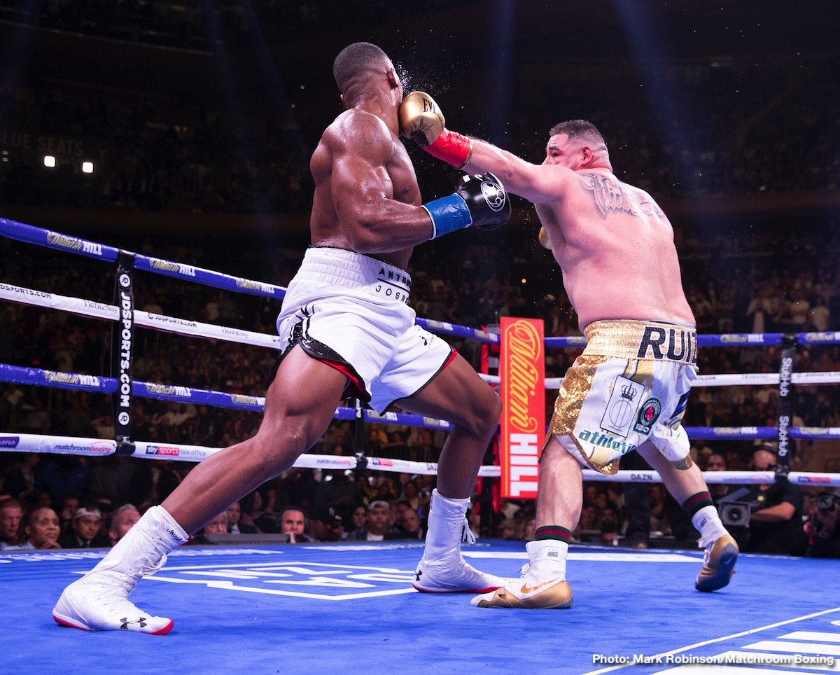 Anthony Joshua Bob Arum DAZN Joshua vs Ruiz Sky Sports Box Office