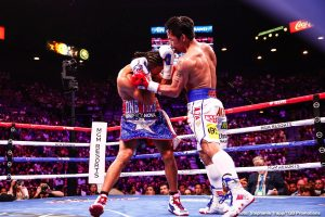 "Manny Pacquiao reacts to Floyd Mayweather calling him an ""OLD man"""