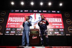 - Latest John Molina Keith Thurman Manny Pacquiao Fox Sports pay-per-view Lipinets vs. Molina Jr Luis Nery Omar Figueroa Jr. Pacquiao vs. Thurman Sergey Lipinets Ugas vs. Figueroa Yordenis Ugas