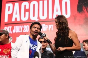 Smith: scared Pacquiao will get knocked out by Crawford