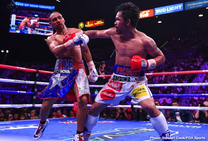 Freddie Roach Keith Thurman Manny Pacquiao