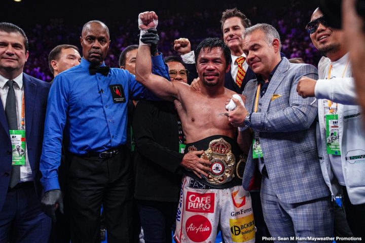 Floyd Mayweather Jr Keith Thurman Manny Pacquiao Pacquiao vs. Thurman