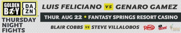 - Latest DAZN Feliciano vs. Gamez Genaro