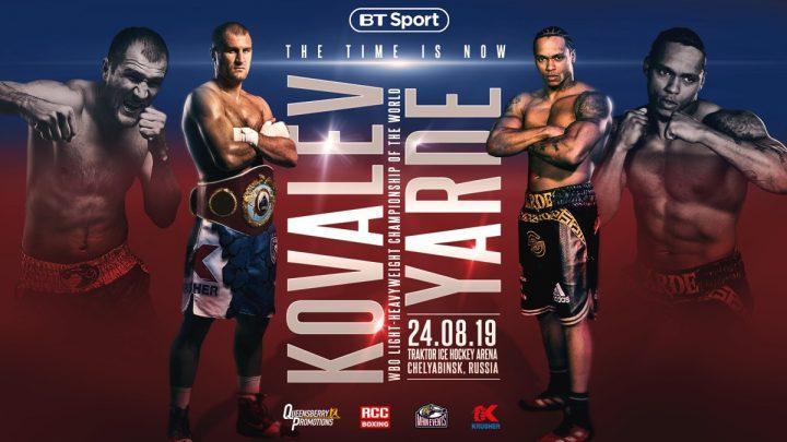 Andre Ward Joe Calzaghe Sergey Kovalev Anthony Yarde Kovalev vs. Yarde