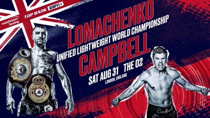 Vasyl Lomachenko Bob Arum Lomachenko vs. Campbell Luke Campbell