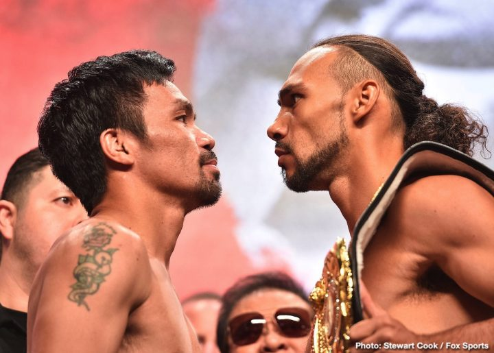 - Latest Keith Thurman Manny Pacquiao Pacquiao vs. Thurman
