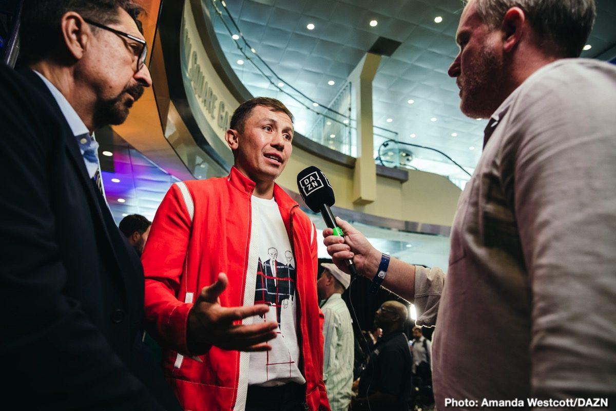 Canelo Alvarez Gennady Golovkin DAZN Eddie Hearn Golovkin vs. Derevyanchenko Matchroom Boxing Sergiy Derevyanchenko