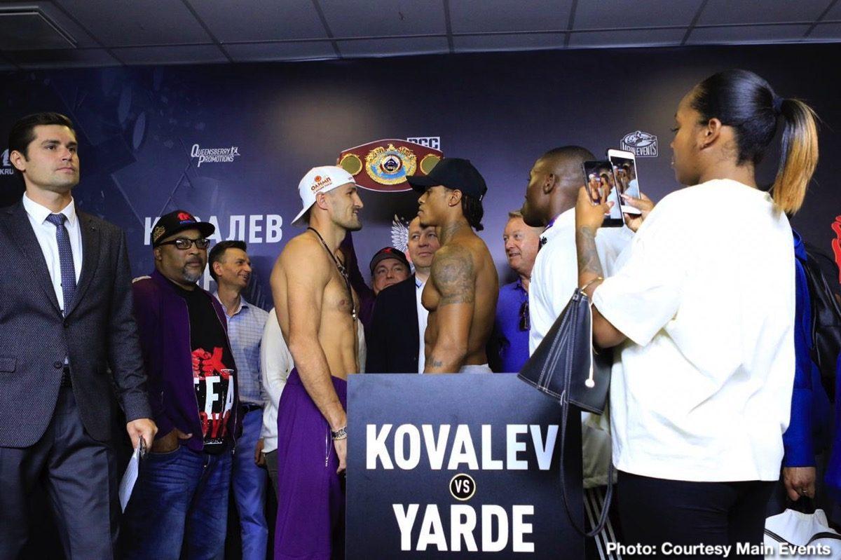 Sergey Kovalev Anthony Yarde BT Sport ESPN Kovalev vs. Yarde