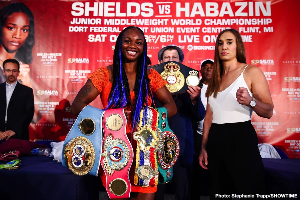- Latest Claressa Shields Ivana Habazin Shields vs. Habazin Showtime