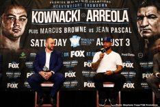 - Latest Chris Arreola Jean Pascal Adam Kownacki Browne vs. Pascal Kownacki vs. Arreola Marcus Browne