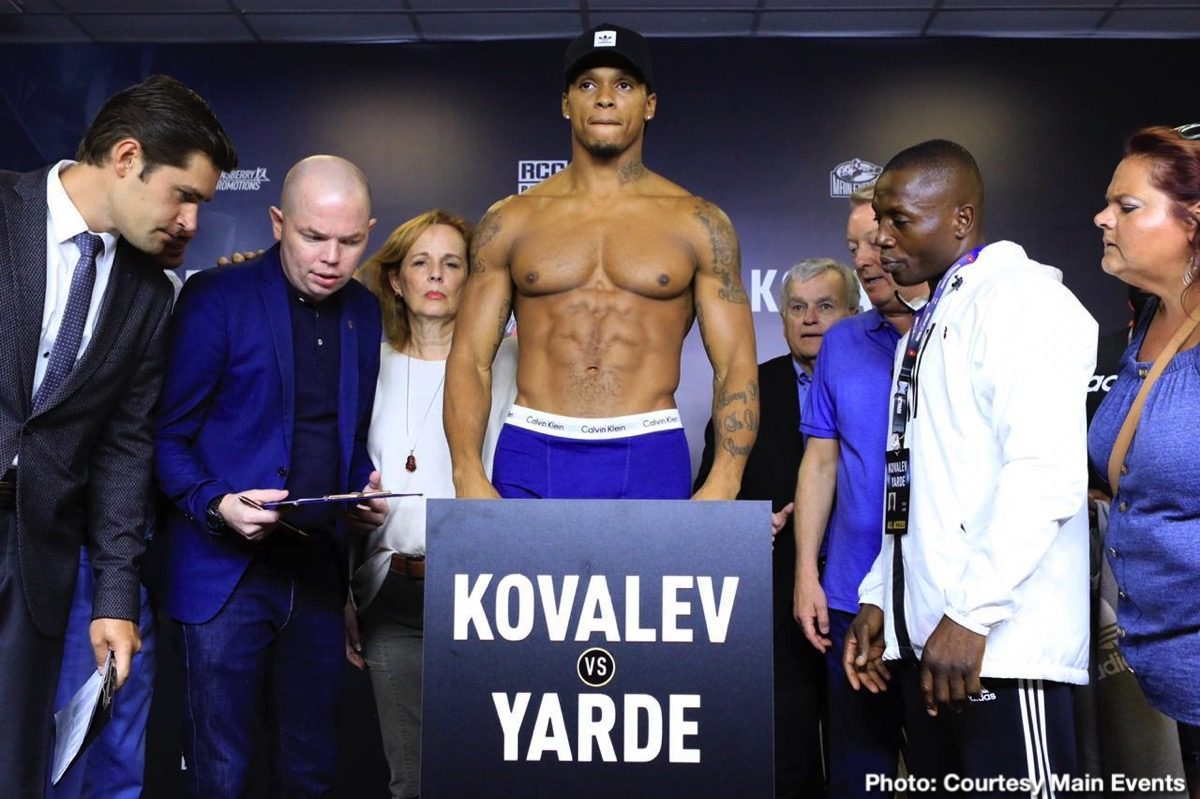 Sergey Kovalev Anthony Yarde Kovalev vs. Yarde