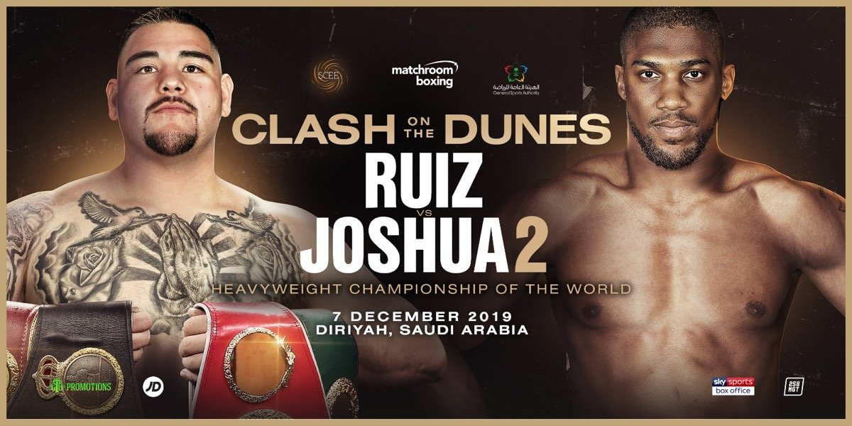 Anthony Joshua Andy Ruiz DAZN Joshua vs Ruiz Sky Sports Box Office Teddy Atlas