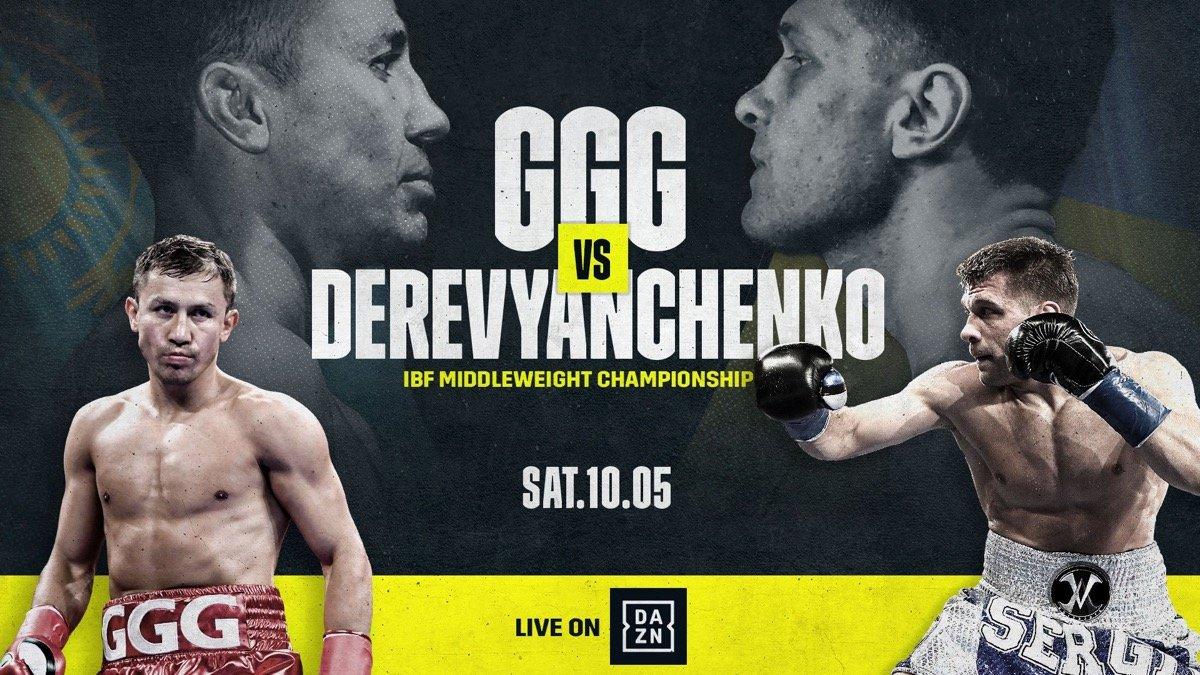 Gennady Golovkin DAZN Golovkin vs. Derevyanchenko Sergiy Derevyanchenko