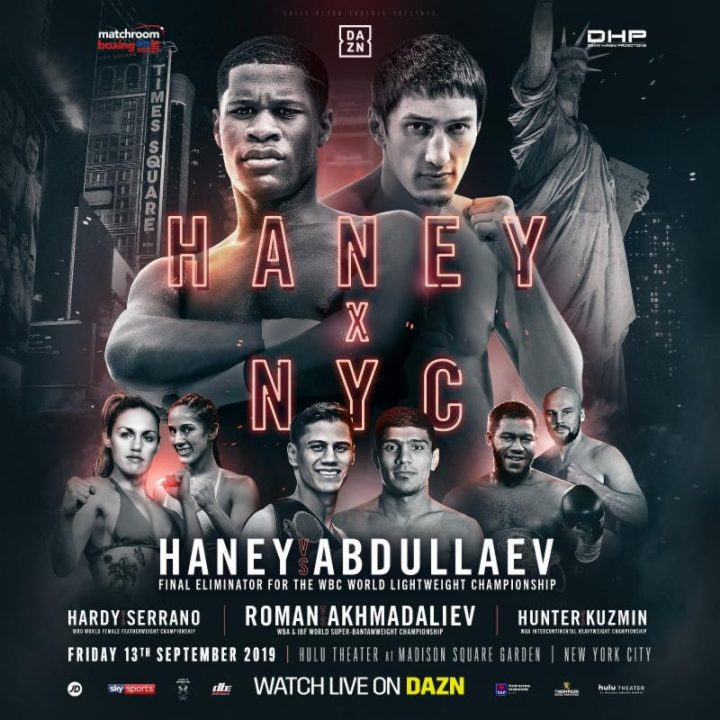 - Latest Daniel Roman Devin Haney Haney vs. Abdullaev Matchroom Boxing Michael Hunter Murodjon Akhmadaliev Roman vs. Akhmadaliev