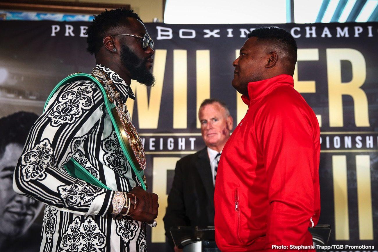 - Latest Deontay Wilder Luis Ortiz Wilder vs. Ortiz