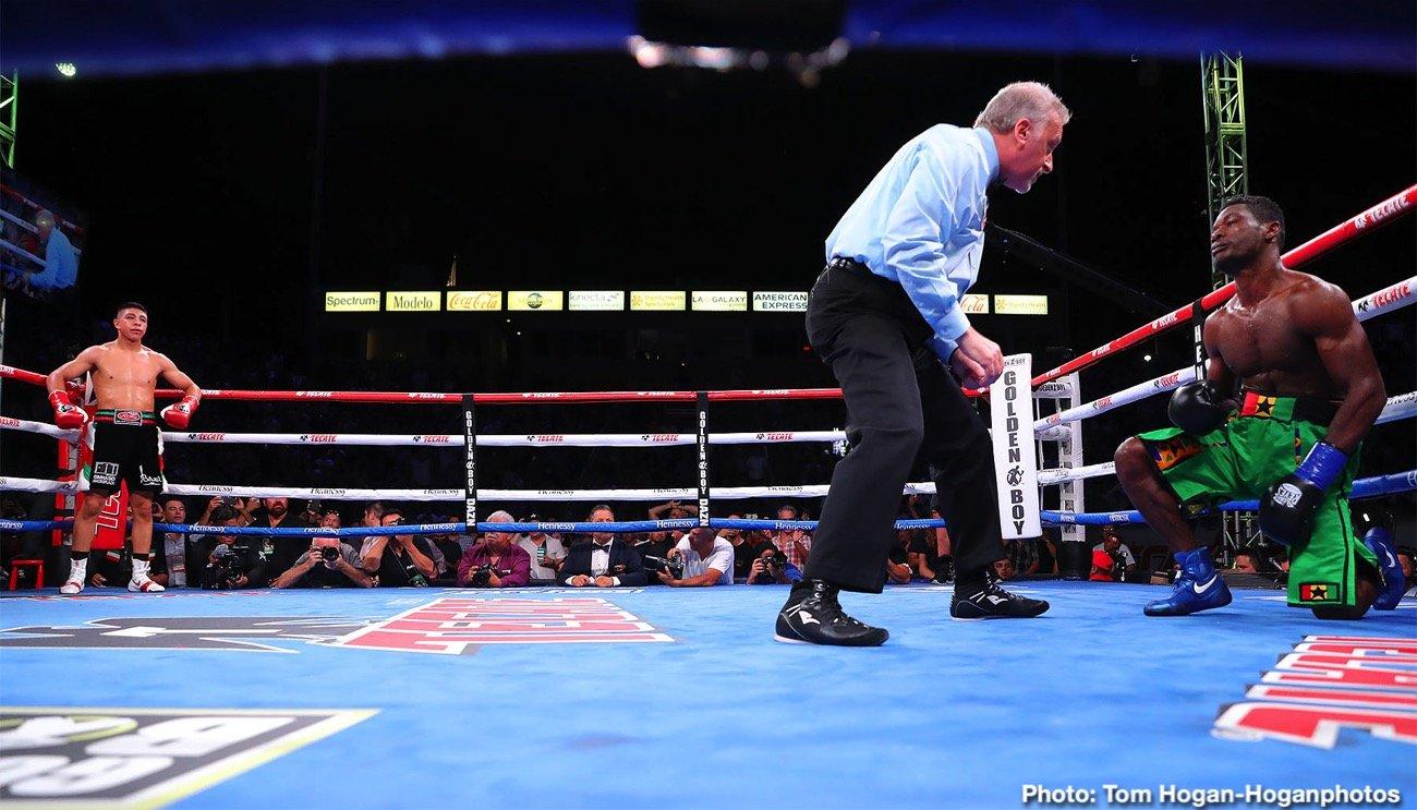 Latest Golden Boy Promotions Jaime Munguia Munguia vs. Allotey Patrick Allotey Romero Duno