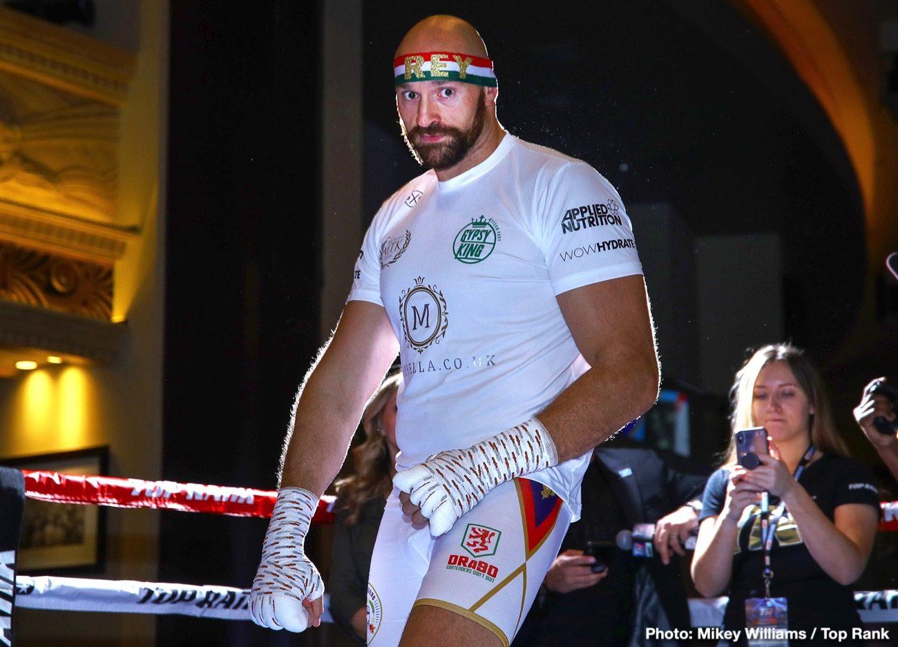 Deontay Wilder Tyson Fury Bob Arum Fury vs. Wallin Otto Wallin