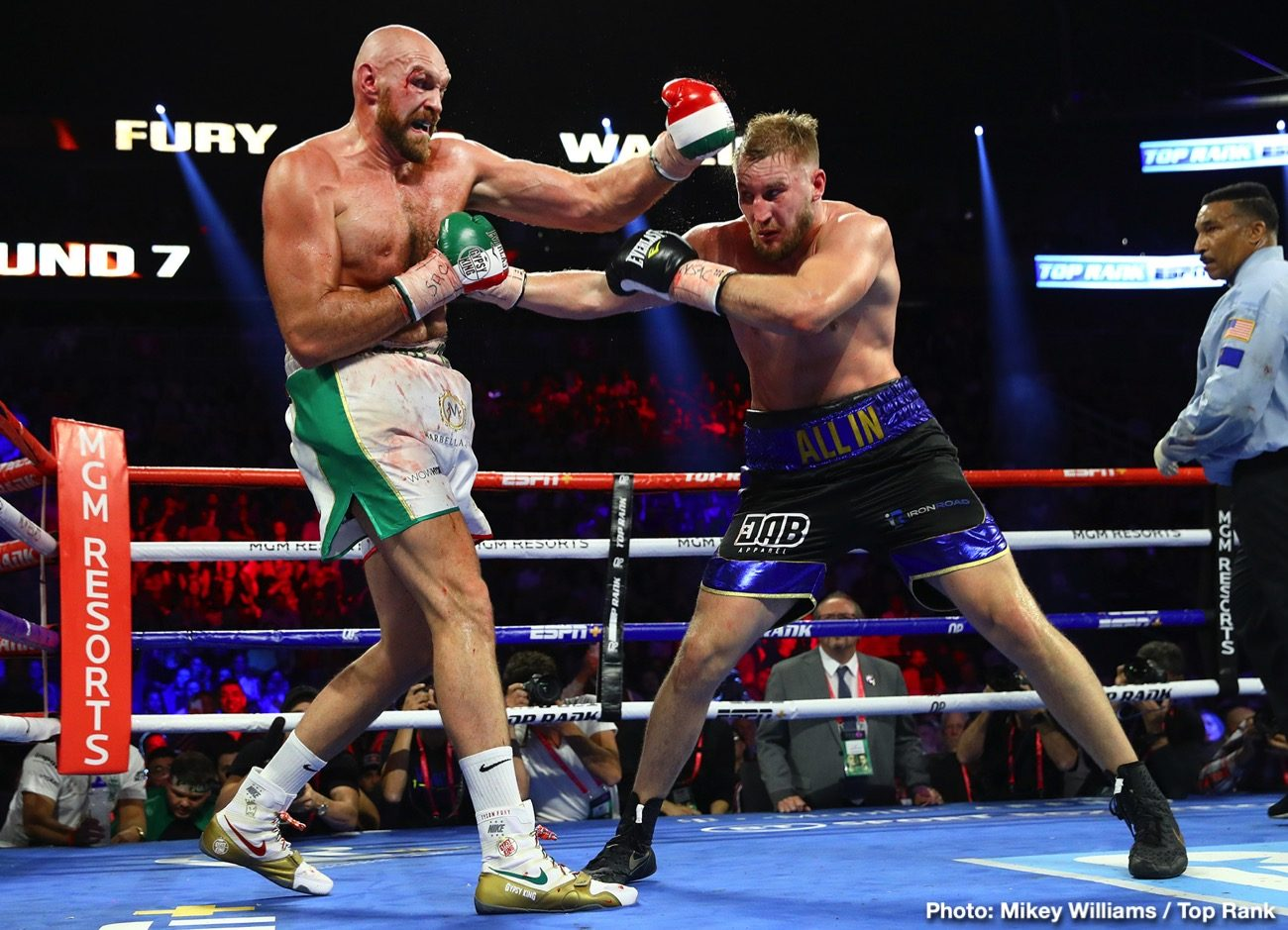 - Latest Tyson Fury Fury vs. Wallin Otto Wallin