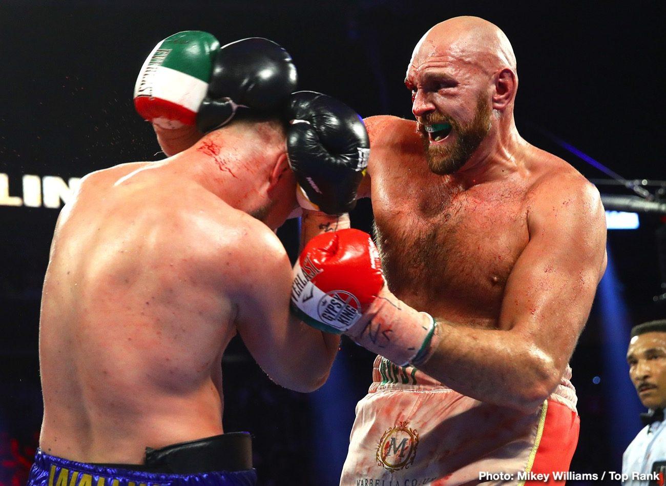Deontay Wilder Tyson Fury Fury vs. Wallin Otto Wallin