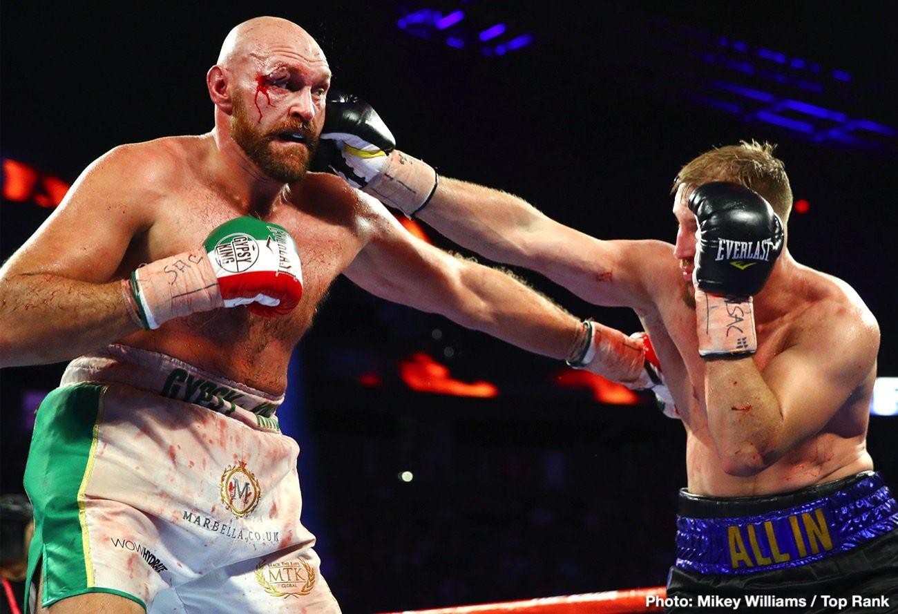 Deontay Wilder Tyson Fury Fury vs. Wallin Otto Wallin Wilder vs. Fury